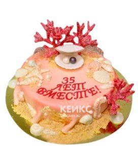 Торт на коралловую свадьбу 1