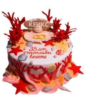 Торт на коралловую свадьбу 10