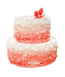 Торт на коралловую свадьбу 2