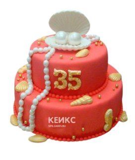 Торт на коралловую свадьбу 3