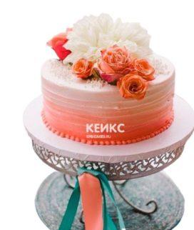 Торт на коралловую свадьбу 4