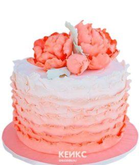 Торт на коралловую свадьбу 5