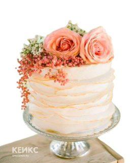 Торт на коралловую свадьбу 6