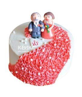Торт на коралловую свадьбу 8