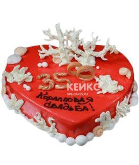 Торт на коралловую свадьбу 9
