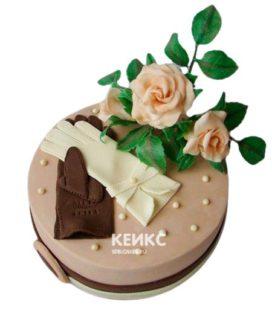 Торт на кожаную свадьбу