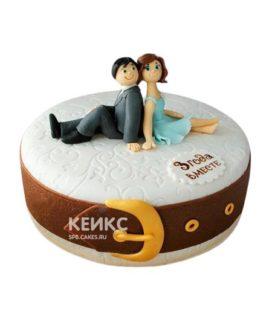 Торт на кожаную свадьбу 5