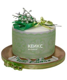 Торт на кружевную свадьбу 1