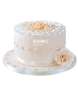 Торт на кружевную свадьбу