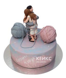 Торт на льняную свадьбу 2