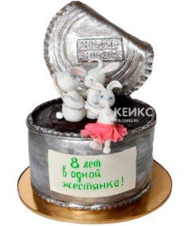 Торт на маковую и жестяную свадьбу 2
