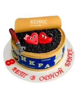 Торт на маковую и жестяную свадьбу