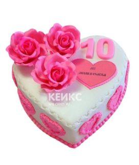 Торт на розовую свадьбу 2
