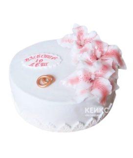 Торт на розовую свадьбу 3