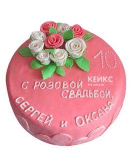 Торт на розовую свадьбу 4