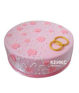 Торт на розовую свадьбу 7