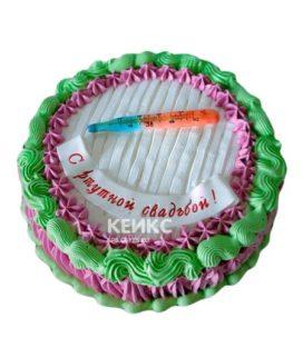 Торт на ртутную свадьбу