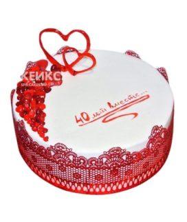 Торт на рубиновую свадьбу 1