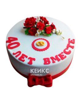 Торт на рубиновую свадьбу 2