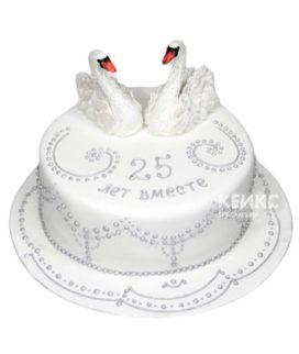 Торт на серебряную свадьбу 1