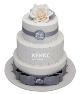 Торт на серебряную свадьбу 2