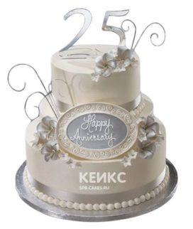 Торт на серебряную свадьбу