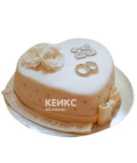 Торт на серебряную свадьбу 4