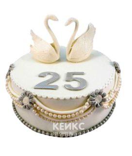 Торт на серебряную свадьбу 5