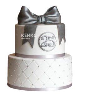 Торт на серебряную свадьбу 6