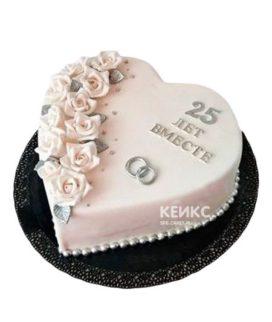Торт на серебряную свадьбу 7