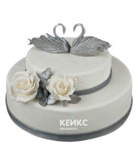 Торт на серебряную свадьбу 8