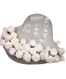 Торт на серебряную свадьбу 9