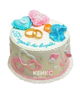 Торт на ситцевую свадьбу 5