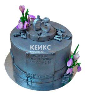 Торт на стальную свадьбу