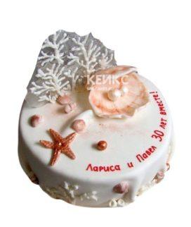 Торт на жемчужную свадьбу 1
