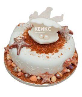 Торт на жемчужную свадьбу 3