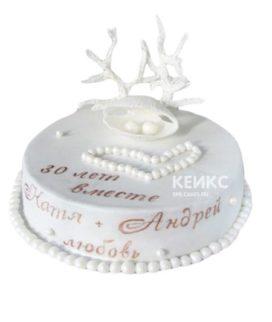 Торт на жемчужную свадьбу 4
