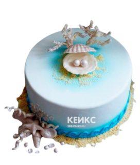 Торт на жемчужную свадьбу 6