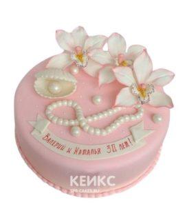 Торт на жемчужную свадьбу 7