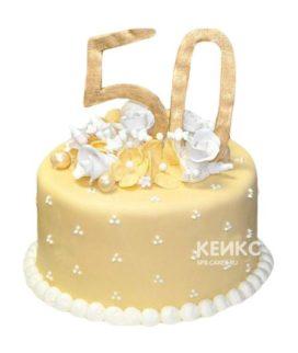 Торт на золотую свадьбу 1