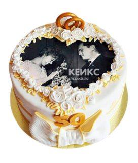 Торт на золотую свадьбу 3