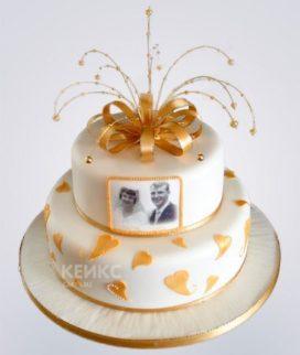 Торт на золотую свадьбу 5
