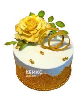 Торт на золотую свадьбу 6