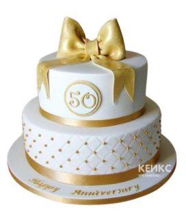 Торт на золотую свадьбу 7