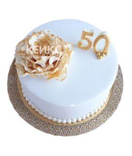 Торт на золотую свадьбу 8