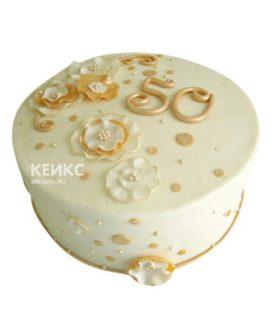 Торт на золотую свадьбу 9