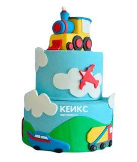 Торт Паровозик 3