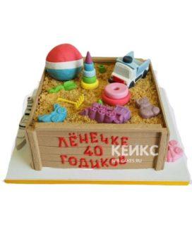 Торт Песочница 3
