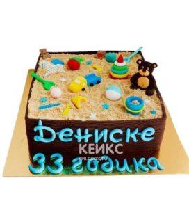 Торт Песочница 4