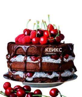 Торт с черешней 5